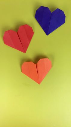 Ideas For Origami Heart Diy Kids Paper Crafts Origami, Diy Origami, Origami Tutorial, Diy Paper, Origami Balloon, Cute Origami, Origami Instructions, Diy Craft Projects, Fun Crafts