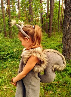 Squirrel girl costume dress headband tail/ Kids squirrel
