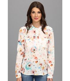 Rebecca Taylor Rebecca Taylor  LS Poppy Blossom Top Cream Womens Blouse for 124.99 at Im in!