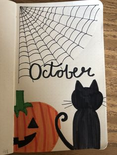 Monthly Cover Title Page Bujo Bullet Journal Black Cat Pumpkin Spider We. October Monthly Cover Title Page Bujo Bullet Journal Black Cat Pumpkin Spider We., October Monthly Cover Title Page Bujo Bullet Journal Black Cat Pumpkin Spider We. Bullet Journal Nouvel An, Bullet Journal Décoration, Bullet Journal Halloween, Bullet Journal Cover Page, Bullet Journal Aesthetic, Bullet Journal Ideas Pages, Bullet Journal Layout, Journal Covers, Bullet Journal Inspiration