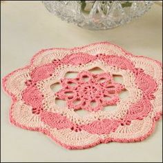 Sunset Doily in Aunt Lydia's Crochet Thread from Crochet World magazine