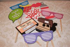 80's Photo Booth Props by littleshoppeofpaper on Etsy, $25.00