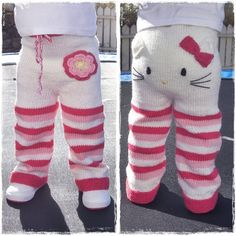 If I could make these mom-sized, I would. #hellokitty #knit #pants