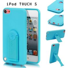 E-LV Matte Flexible TPU (Thermoplastic Polyurethane) Case Cover Skin With Adjustable and Removable Back Stand for Apple iPod Touch 5 5G 5th Generation (Case is made from Best Quality FRESH TPU for perfect fit) (Retail Packaging) (Blue) - Concise desi