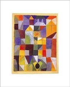Paul Klee - Städtische Komposition mit den gelben Fenstern - Kunstdruck.