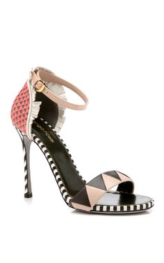 46d6d7bab Shop Oberoj Ankle Strap High Heel Sandal by Sergio Rossi Now Available on Moda  Operandi Ankle