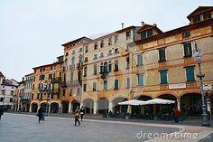 Liberty Square in the old town of Bassano del Grappa, in Veneto, Italy.