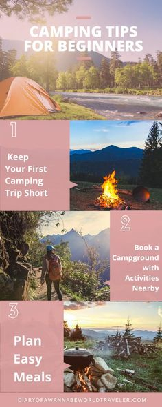 camping tips for beginners pin