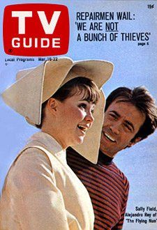 Sally Field & Gidget Fansite, Two of the three TV Guide covers featuring Sally...