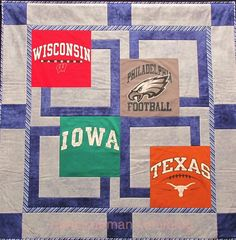 """I am always getting requests for a t-shirt quilt pattern. Debbie Bowles, my quest on """"Sewing With Nancy,"""" designed the ideal quilt pattern to really set-off a collection of t-shirts. Watch my brand new series online at www.nancyzieman, on Public TV, or on DVD called """"Sew Big Block Quilts."""" Just wait until you see the other quilts made with traditional fabric!"""