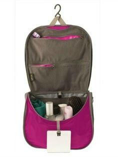 2edeaf973d3d SEA TO SUMMIT TravellingLight Hanging Toiletry Bag has zippered  compartments at the top of the bag