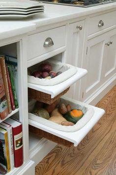 Veggie Drawer by Quality Custom Cabinetry available through Kent Kitchen Works
