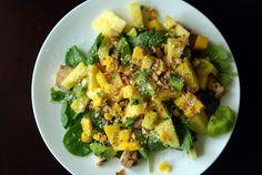 Thai Tofu and Tropical Fruit Salad