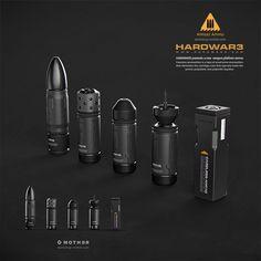 Almost Ammo #weapon #gun #scifi #caseless #steel #shotgun #pistol #rifle #ammo #bullet #platform