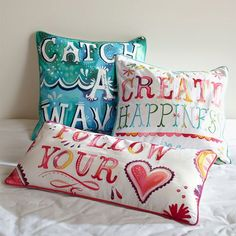 @Katie Daisy Pillow Cover   PBteen