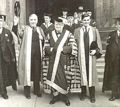 Robert Menzies (Prime Minister of Australia) Winston Churchill and John Winant (U.S. Ambassador to England) in London, 1940s.