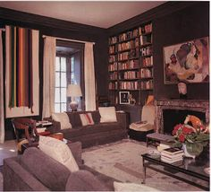 Another view of the library in the Washington home of Katherine Graham.