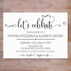 Engagement Party Invitations Engagement Party Invitations Party - Party invitation template: engagement party invitations templates