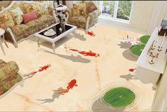 34.54$  Buy here - https://alitems.com/g/1e8d114494b01f4c715516525dc3e8/?i=5&ulp=https%3A%2F%2Fwww.aliexpress.com%2Fitem%2F3-d-pvc-flooring-custom-waterproof-picture-3d-Lotus-pond-fish-for-pleasure-3d-bathroom-flooring%2F32608888368.html - 3 d pvc flooring custom waterproof picture 3d Lotus pond fish for pleasure 3d bathroom flooring photo 3d wall murals wallpaper 34.54$
