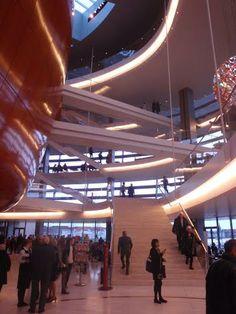 Stairs of the modern though beautiful opera house of Copenhaguen !