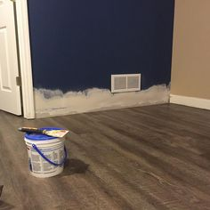 """Busting out a few quick drywall repairs before I put the baseboard/shoe mould back together. Thanks to all the shoddy flooring installers out there for the job security! Tip of the day: Run a fresh razor blade across the caulk line at the top of the baseboard prior to removal. Saves a lot of work down the line. This is the problem with hiring big box stores for installation. They consider baseboard and wall care as """"extras"""" not included with the install. These are things that homeowners…"""