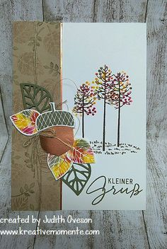 GDP#055 Thoughtful Branches & Acorny Thank You  Wald der Worte & Herbstgrüße Stampin' Up!