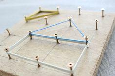 DIY – Werken mit Kindern // Geometriebrett