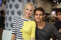 Candice Accola and Paul Wesley at Comic-Con® 2015! #CWSDCC #TVD