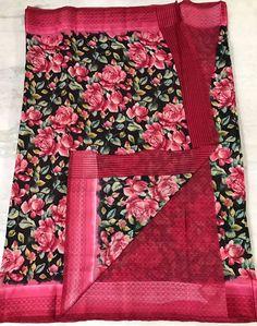 online womens traditional sarees Floral Print Sarees, Printed Sarees, Floral Prints, Kota Silk Saree, Cotton Saree, Elegant Fashion Wear, Trendy Fashion, Designer Silk Sarees, Traditional Sarees