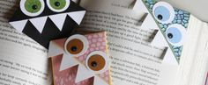 cute bookmarks. the boys would like this