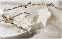 fabric star christmas ornaments