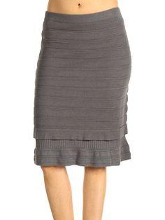Bottom Ruffle Rib Knit Skirt