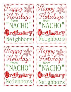 Occasionally Crafty: Neighbor Gift Blog Hop : Chips and Salsa + Printable Tags