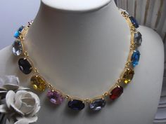 Summer Multicolors 18x13mm Oval Georgian by ParisiJewelryDesigns, $120.00
