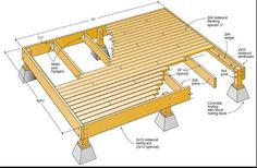 Simple decking construction