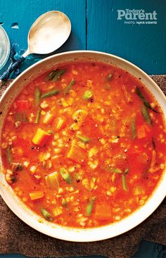 Vegetable and barley soup #SoupRecipe #DinnerForKids