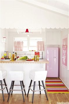 I want pink appliances... or blue... or green... stainless is so limiting. Magnets don't even work!