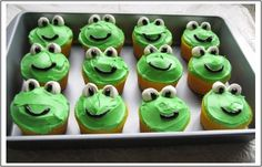 Frog Cupcake-Made for Aaron's b'day 3/2012