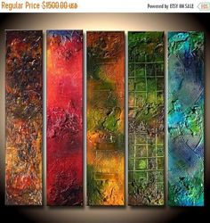 Textured Abstract Colorful painting Contemporary Fine Art by