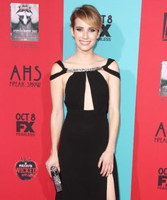 Look of the Day - October 6, 2014 - Emma Roberts in Saint Laurent from #InStyle