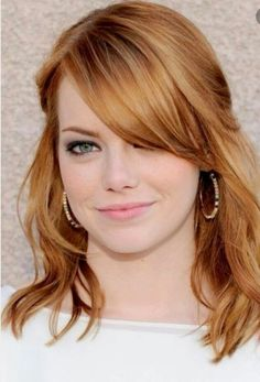 Strawberry blonde hair color. I might try this as my next color.