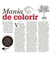 Título: Mania de Colorir. Veículo:Zero Hora. Data: 12/04/2015. Cliente: Editora Alaúde