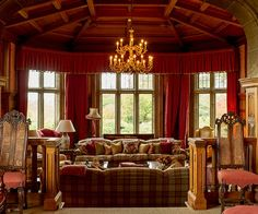 A lounge at Cowdray House wedding venue in West Sussex   CHWV