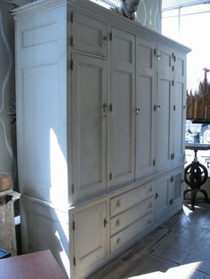 Antique Custom Cedar Lined Freestanding Armoire Closet
