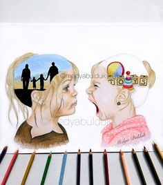 Hidden Sides Of Our Inner World Revealed By A Swedish Artist, And Her Works Yell The Reality Louder Than Words Pictures With Deep Meaning, Art With Meaning, Meaningful Drawings, Meaningful Pictures, Creative Pictures, Creative Art, Satirical Illustrations, Deep Art, Social Art