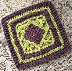 """Counterpoint 12"""" Afghan Block...free pattern!"""
