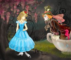 Alice and the Hatter  by ~justin-mctwisp
