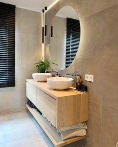 Modern Bathroom Tile, Diy Bathroom Vanity, Bathroom Design Luxury, Bathroom Furniture, Small Bathroom, Home Room Design, Home Interior Design, Bedroom Bed Design, Bad Inspiration