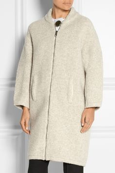 Balenciaga Wool-blend bouclé coat NET-A-PORTER.COM