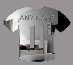 Football Soccer T Shirt Mirror Original Home Decor